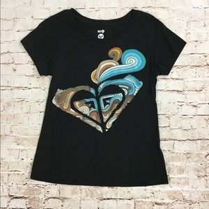 Roxy Black Logo T Shirt